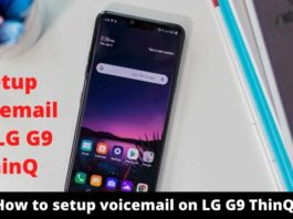 How to setup voicemail on LG G9 ThinQ